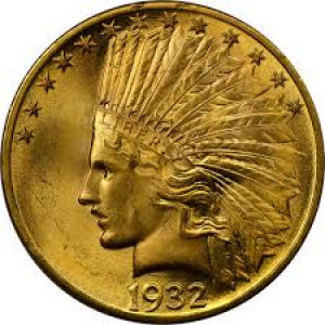 1932 $10 Indian Head Eagle NGC MS64