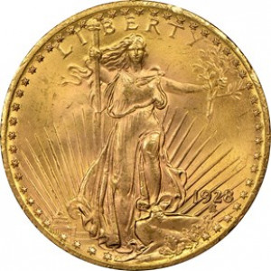 1928 $20 Saint Gaudens Double Eagle NGC MS65