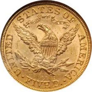 1881-S $5 Liberty Head Half Eagle NGC MS 61