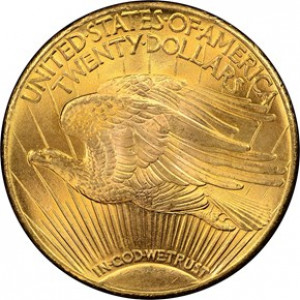 1927 $20 Saint Gaudens Double Eagle NGC MS65